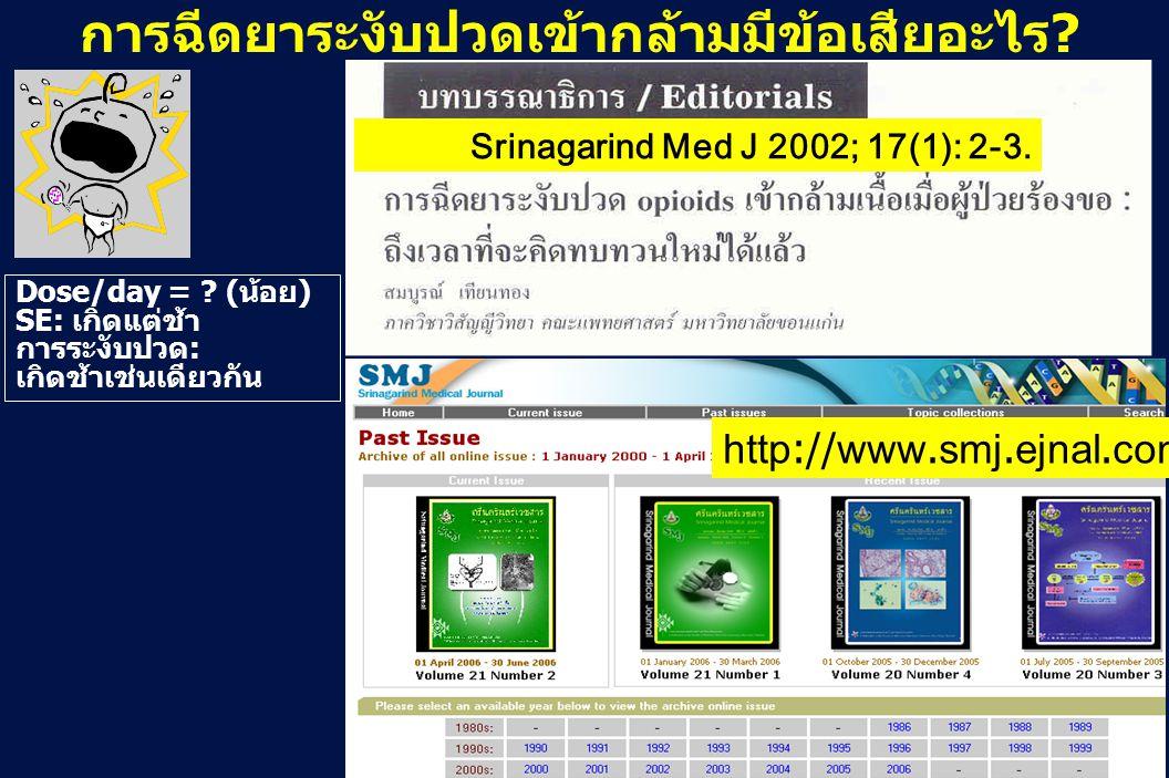 Srinagarind Med J 2002; 17(1): 2-3.