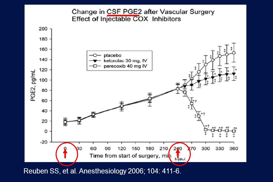 Reuben SS, et al. Anesthesiology 2006; 104: 411-6.