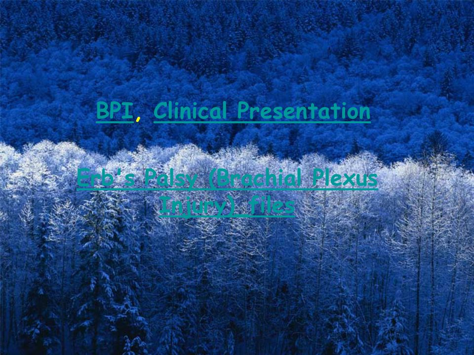 BPI, Clinical Presentation Erb s Palsy (Brachial Plexus Injury)_files