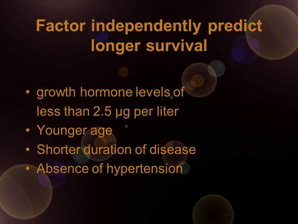 Factor independently predict longer survival