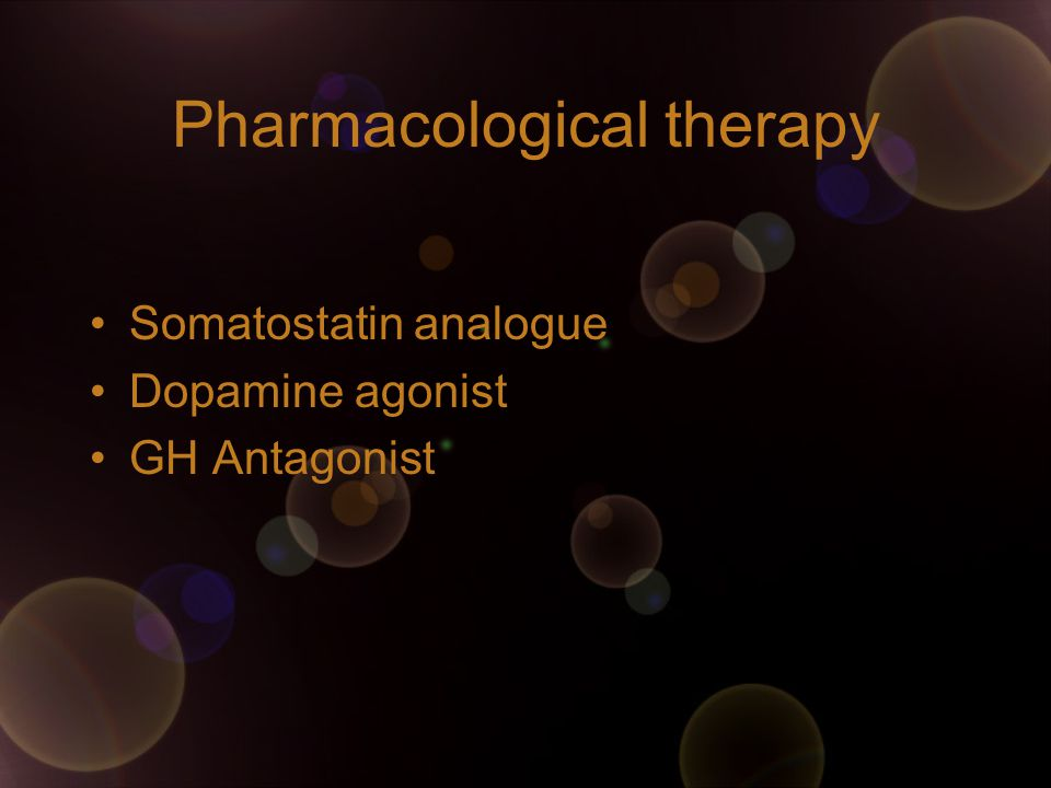 Pharmacological therapy