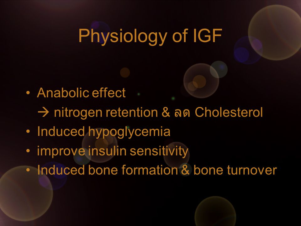 Physiology of IGF Anabolic effect