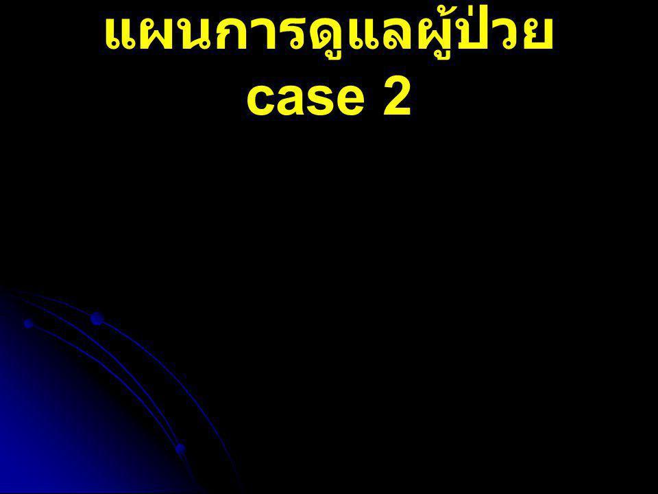แผนการดูแลผู้ป่วย case 2
