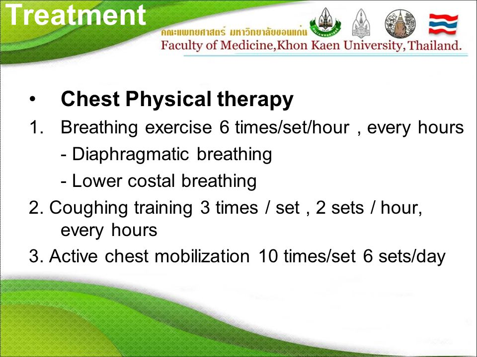 Treatment Chest Physical therapy