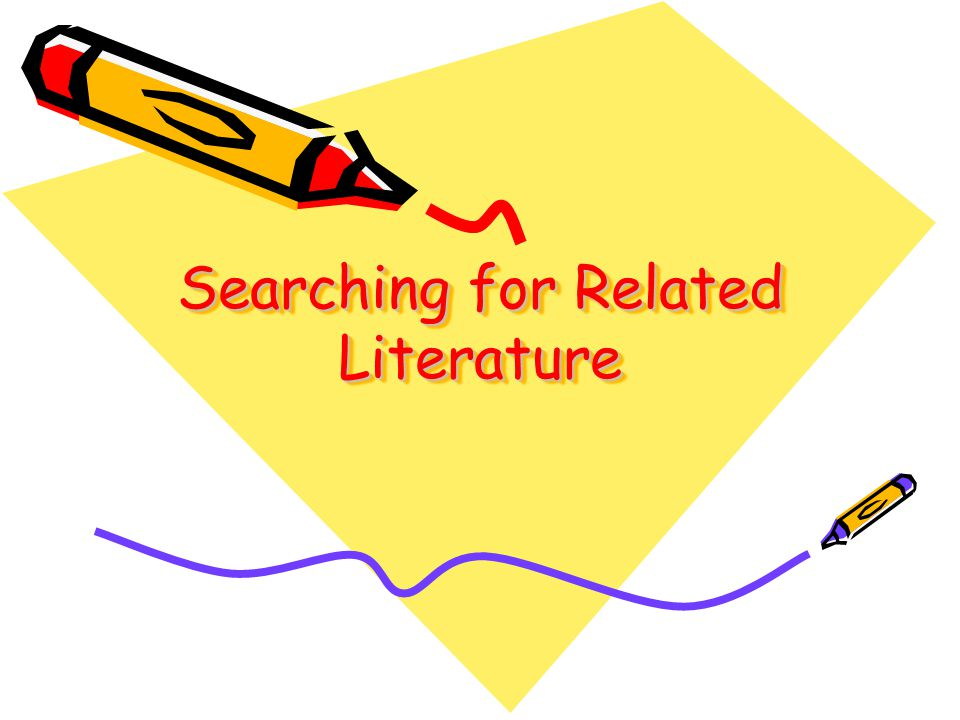 Searching for Related Literature