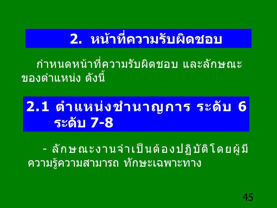 2.1 ตำแหน่งชำนาญการ ระดับ 6 ระดับ 7-8