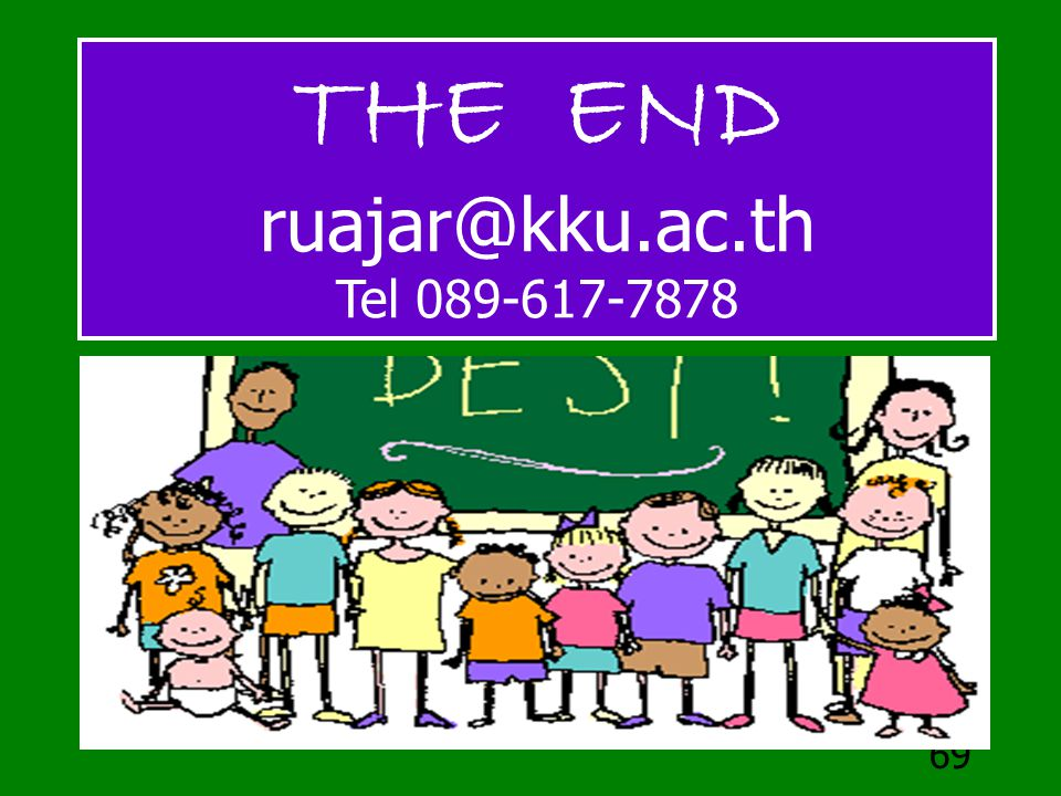 THE END ruajar@kku.ac.th Tel 089-617-7878