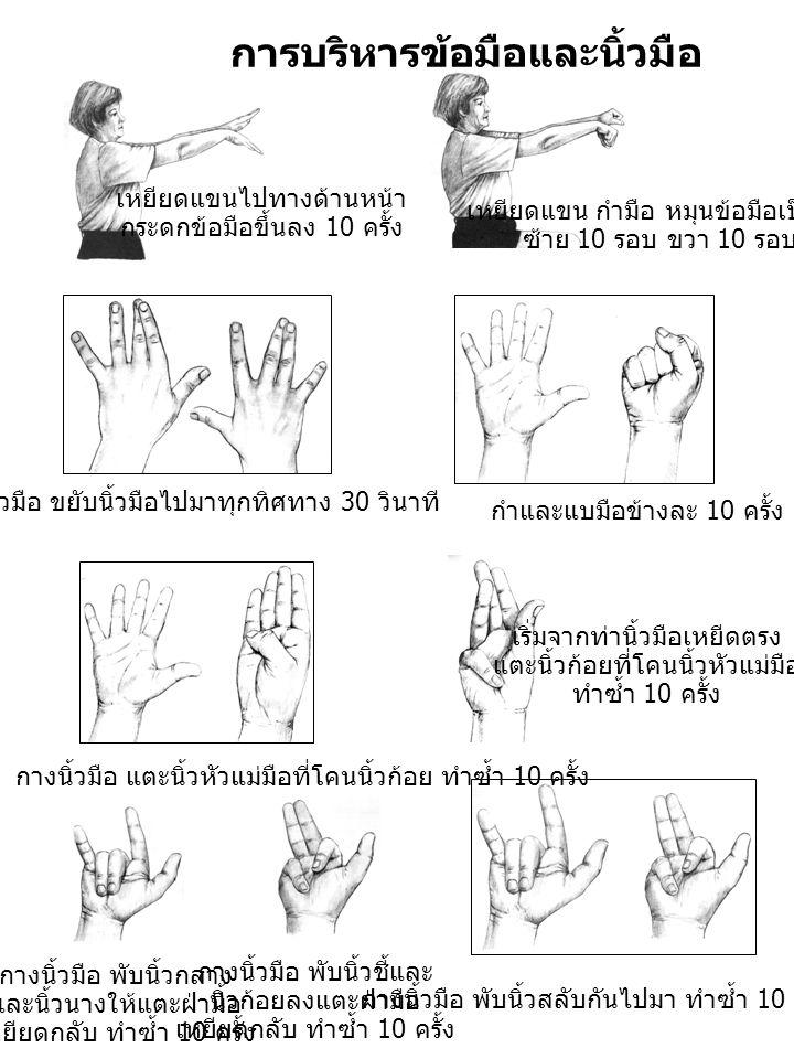 การบริหารข้อมือและนิ้วมือ