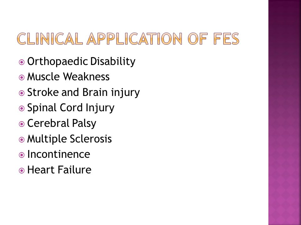 Clinical Application of FES