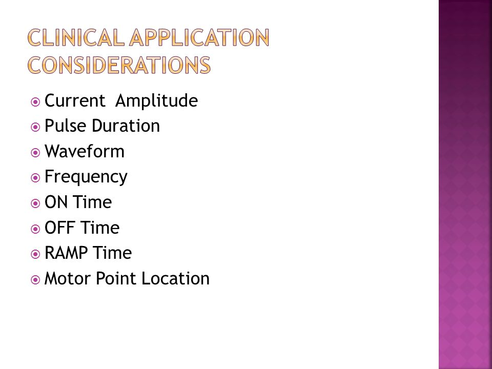 Clinical Application Considerations