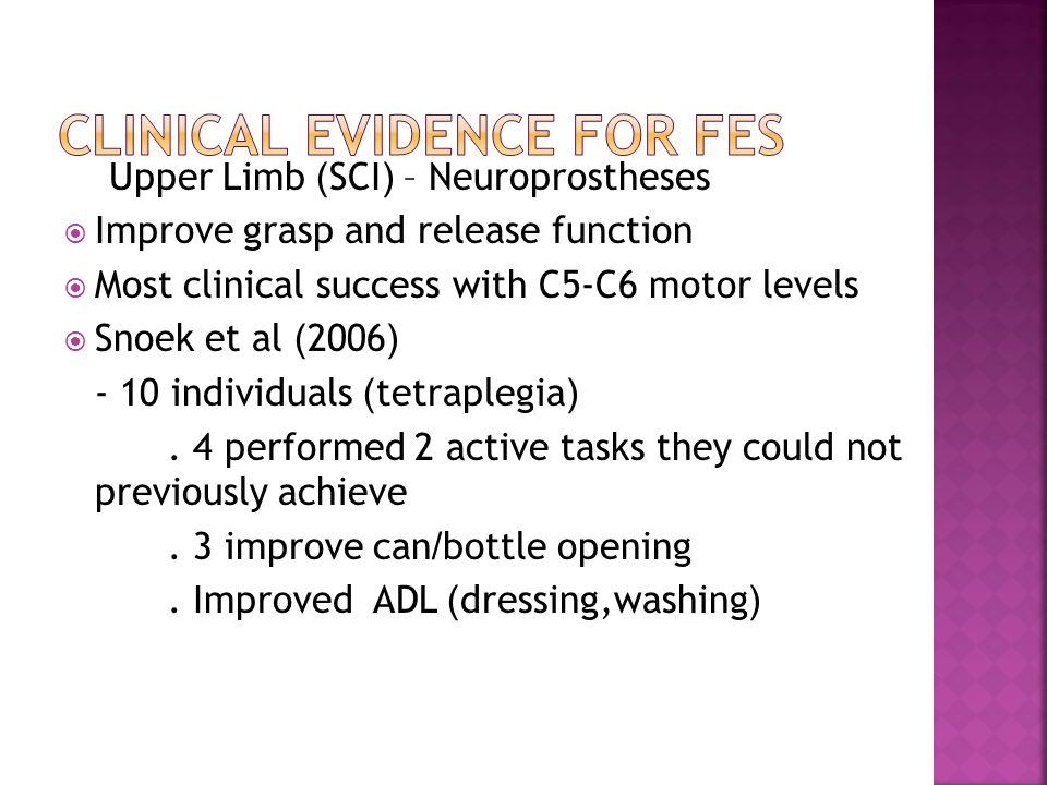 Clinical Evidence for FES