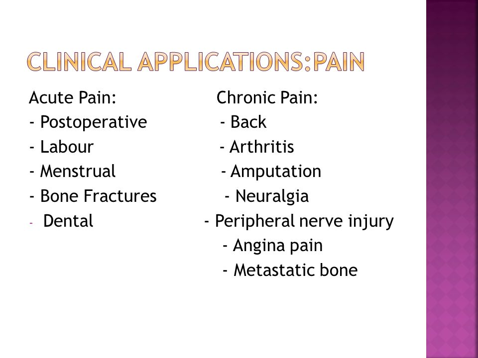 Clinical Applications:Pain