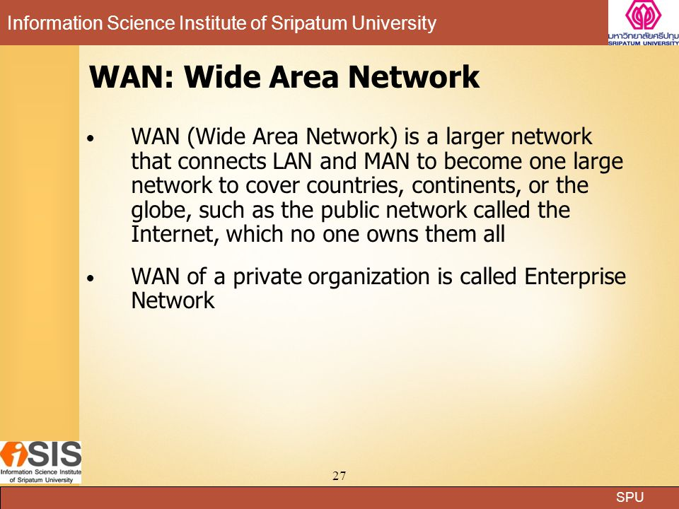 WAN: Wide Area Network