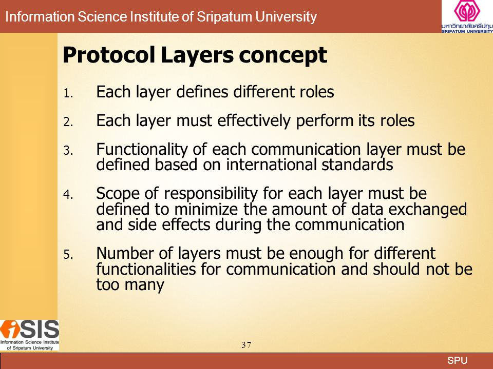 Protocol Layers concept