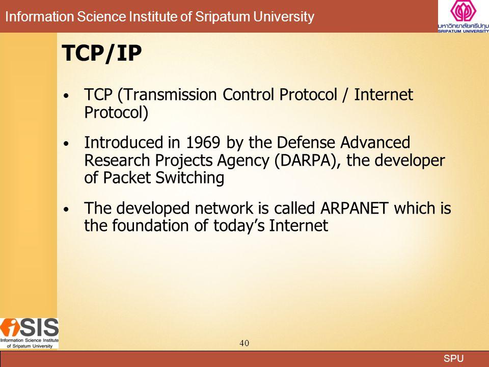 TCP/IP TCP (Transmission Control Protocol / Internet Protocol)