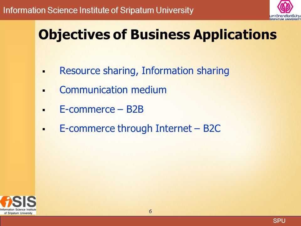 Objectives of Business Applications