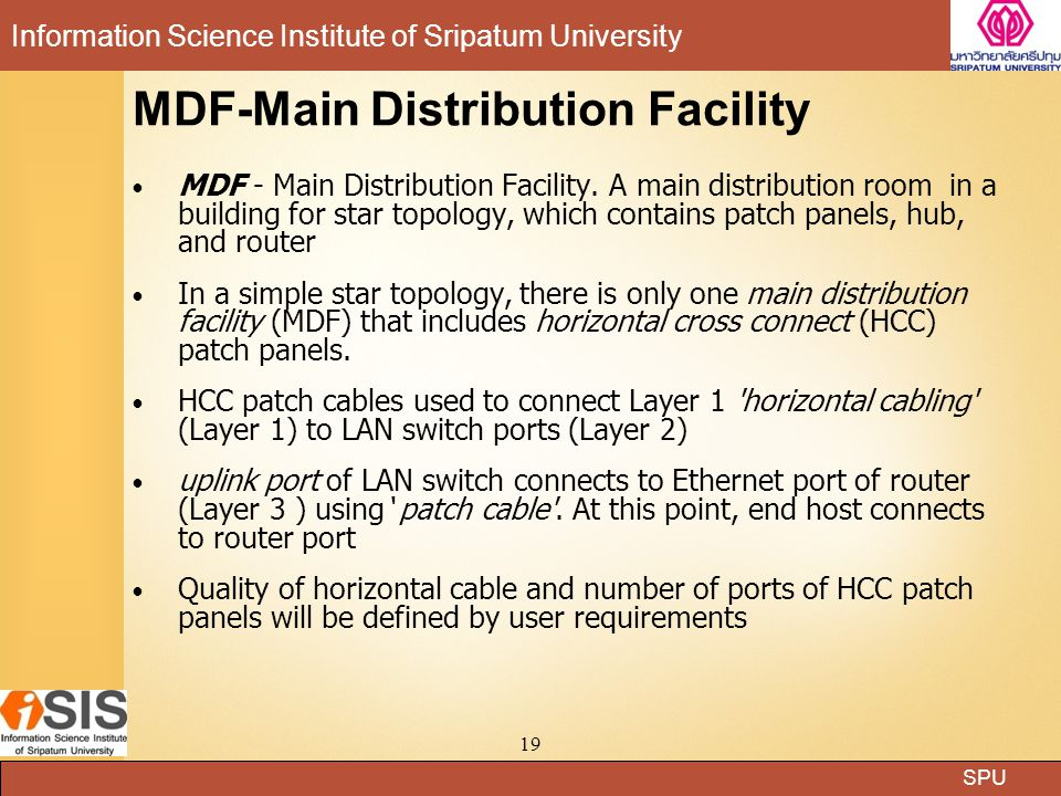 MDF-Main Distribution Facility