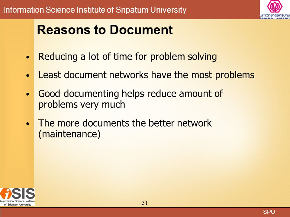 Reasons to Document Reducing a lot of time for problem solving