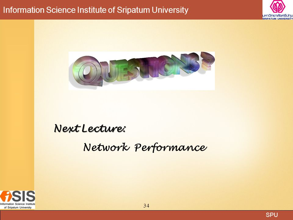 Next Lecture: Network Performance