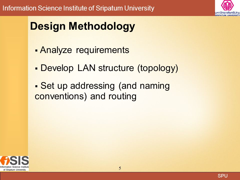 Design Methodology Analyze requirements
