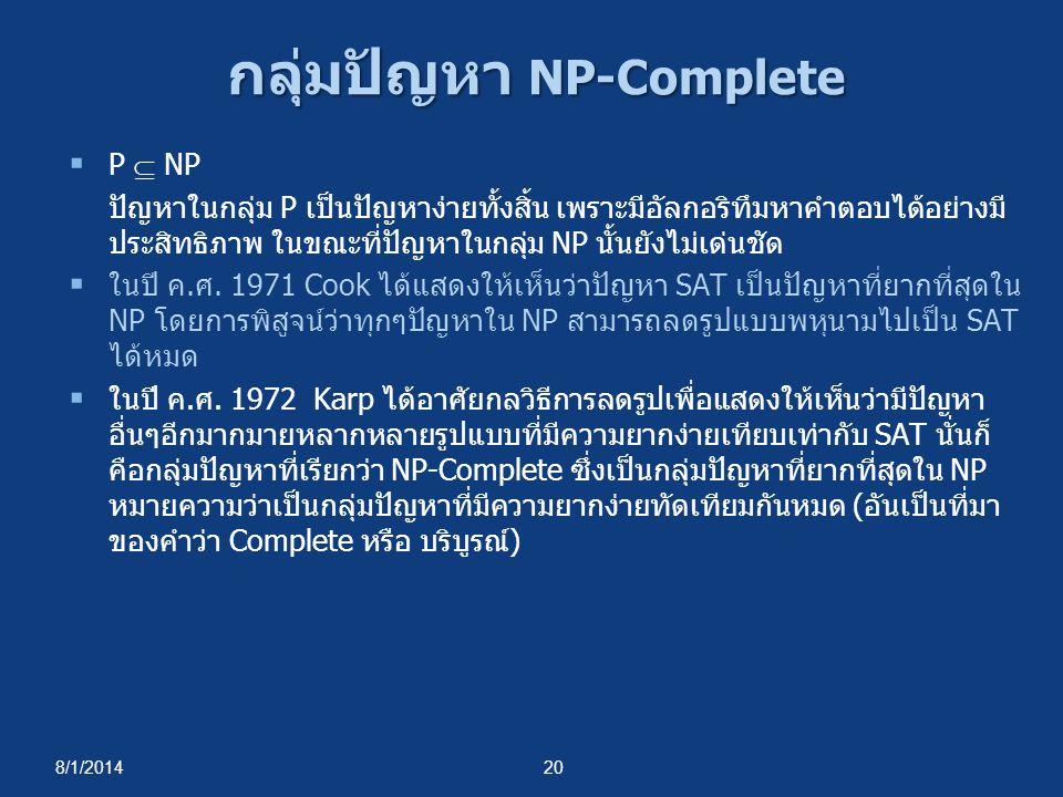 กลุ่มปัญหา NP-Complete