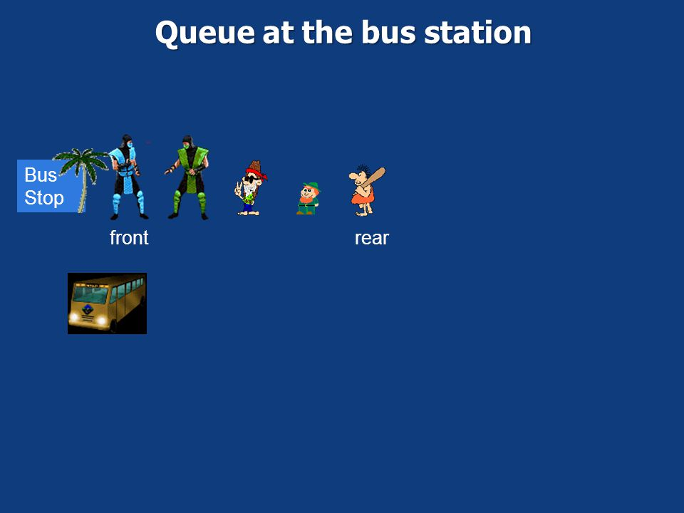 Queue at the bus station