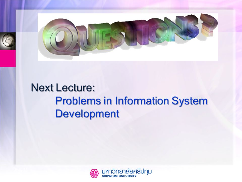 Problems in Information System Development