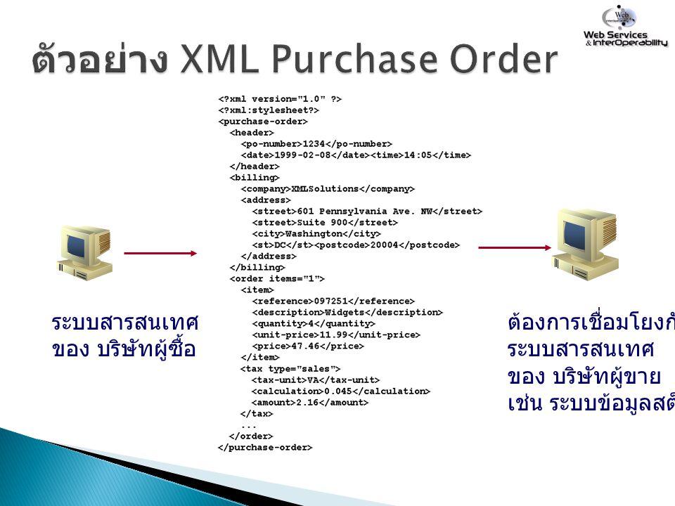 ตัวอย่าง XML Purchase Order