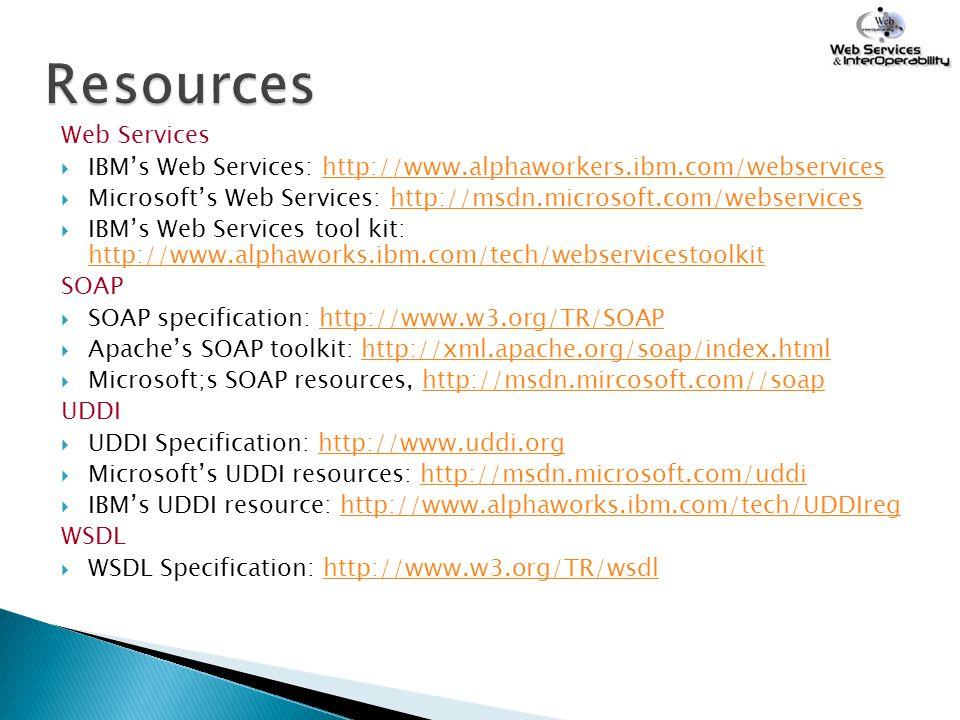 Resources Web Services