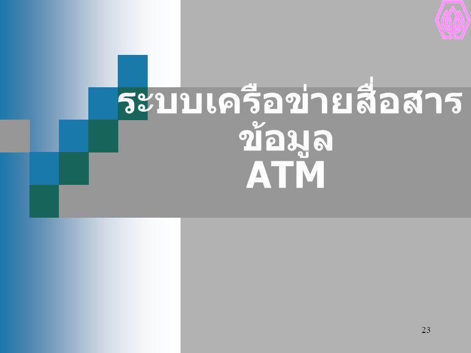 ระบบเครือข่ายสื่อสารข้อมูล ATM
