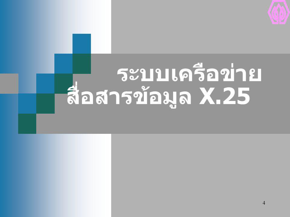 ระบบเครือข่ายสื่อสารข้อมูล X.25