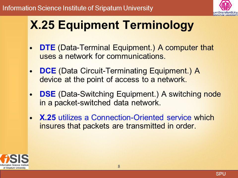 X.25 Equipment Terminology