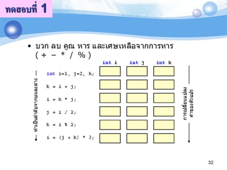 ทดสอบที่ 1