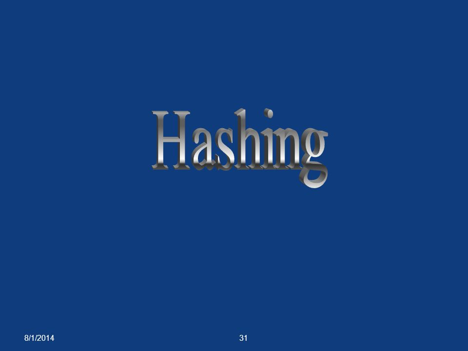 Hashing 4/4/2017