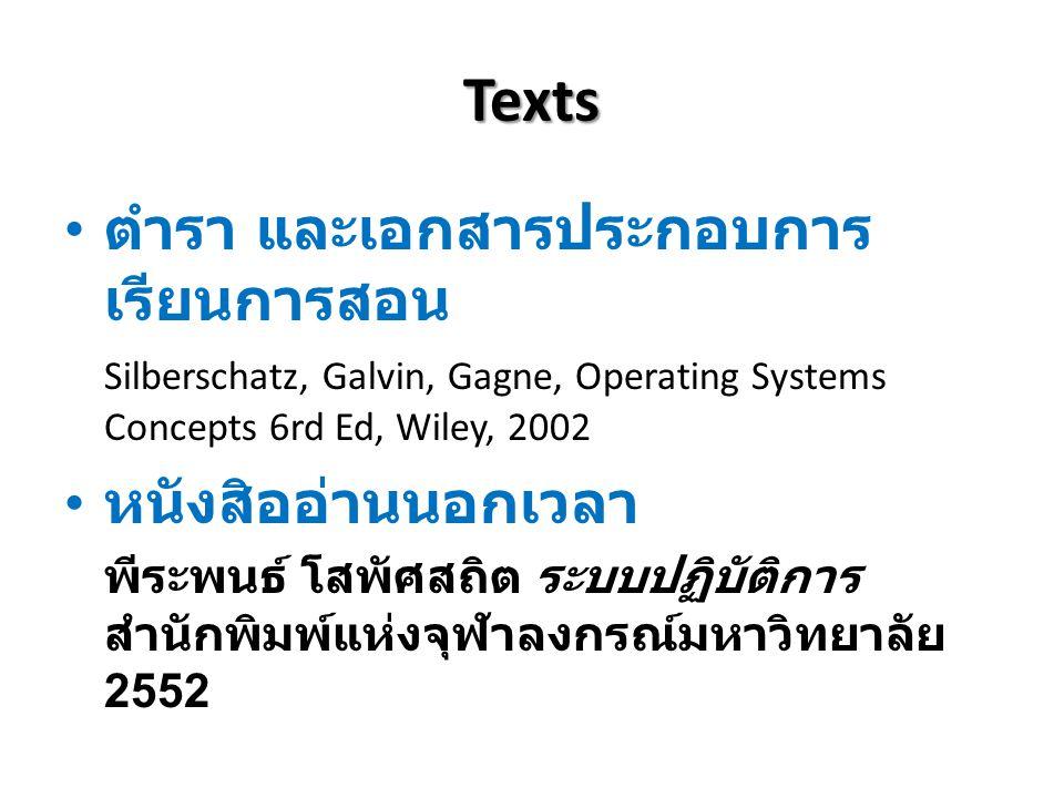 Texts ตำรา และเอกสารประกอบการเรียนการสอน หนังสิออ่านนอกเวลา