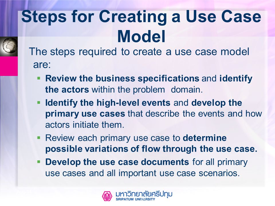 Steps for Creating a Use Case Model