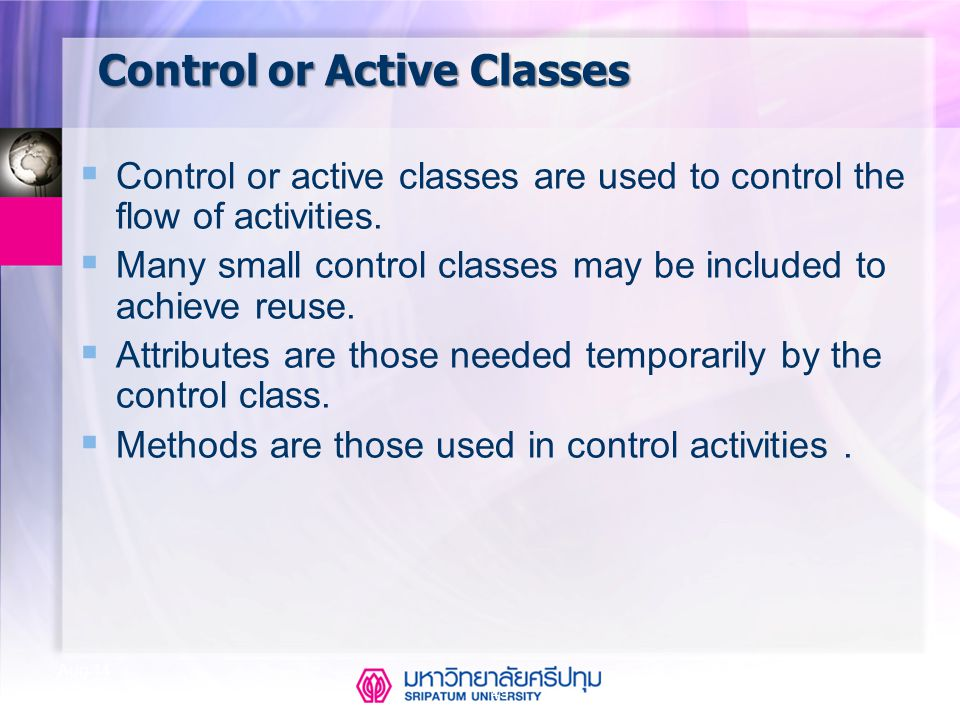 Control or Active Classes