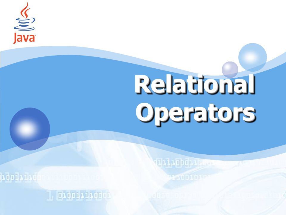 Relational Operators by Accords (IT SMART CLUB 2006) by Accords 1