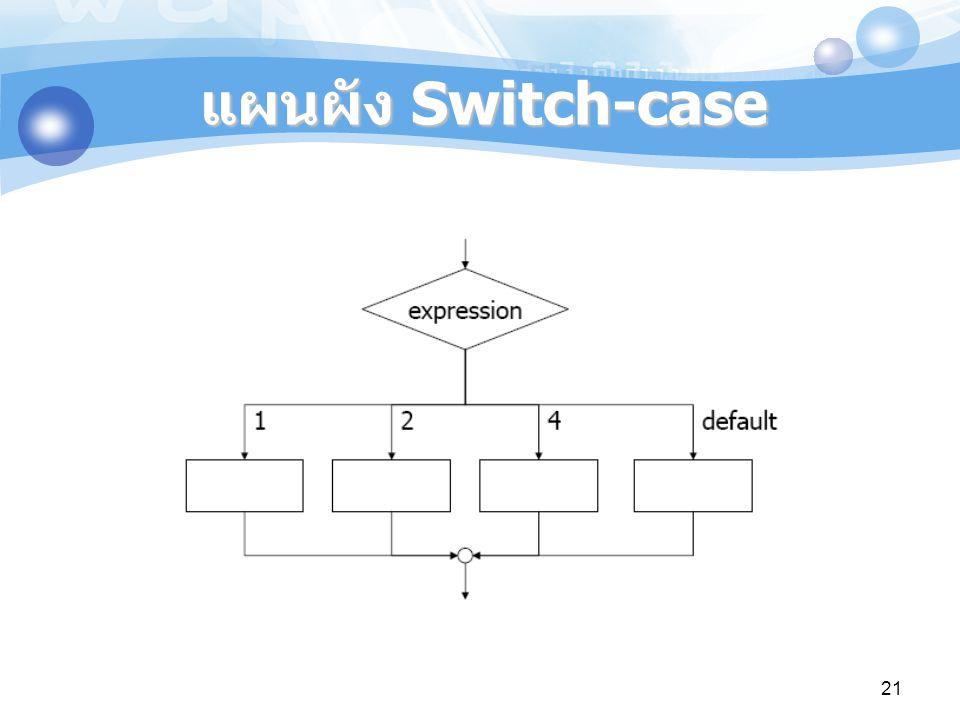 แผนผัง Switch-case
