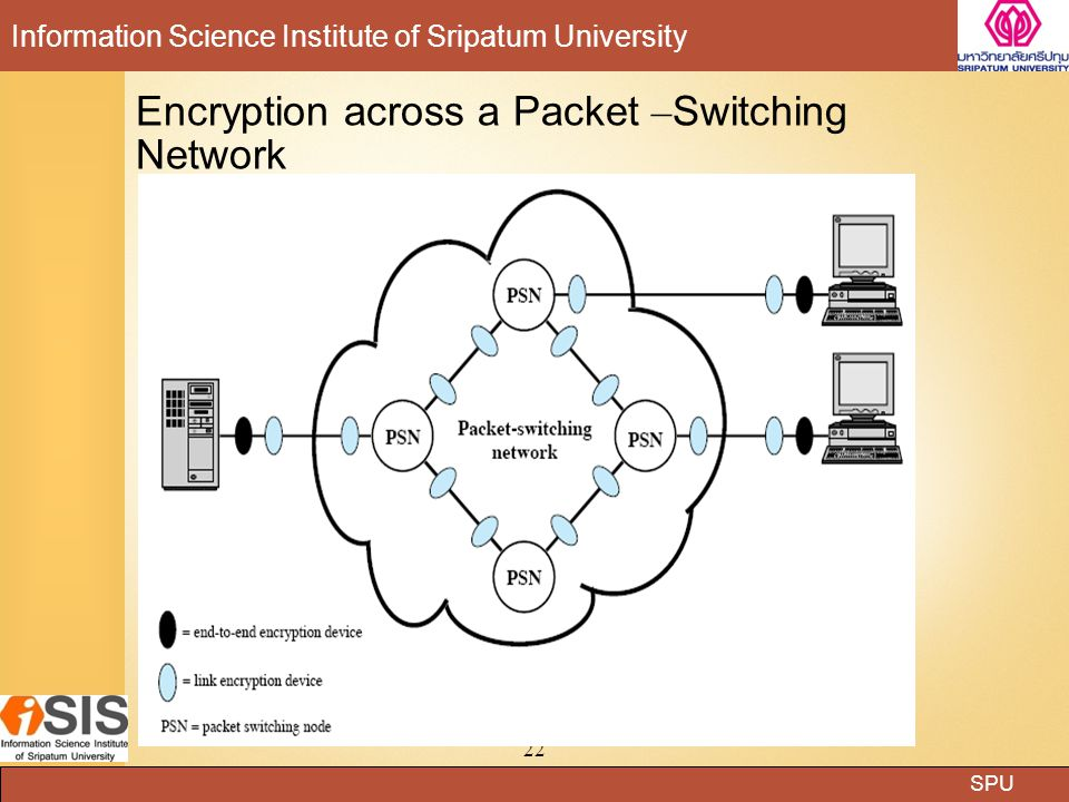 Encryption across a Packet –Switching Network