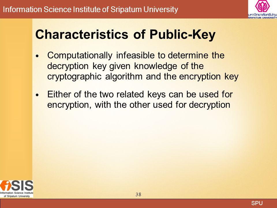 Characteristics of Public-Key