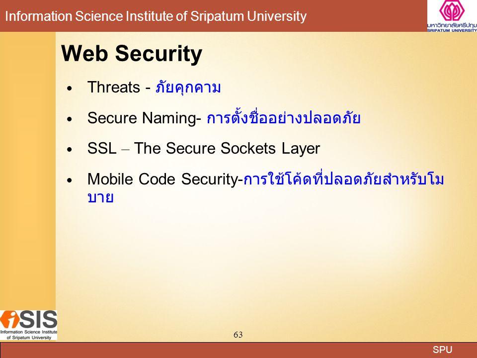 Web Security Threats - ภัยคุกคาม