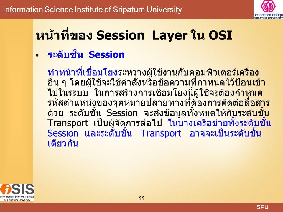 หน้าที่ของ Session Layer ใน OSI