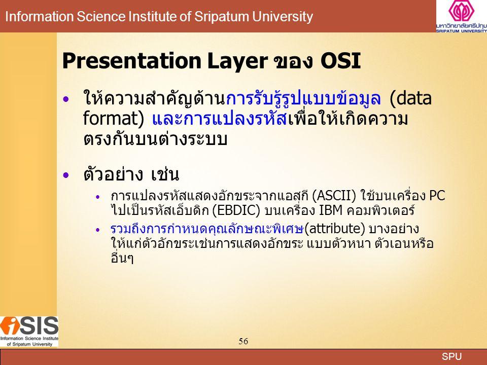 Presentation Layer ของ OSI
