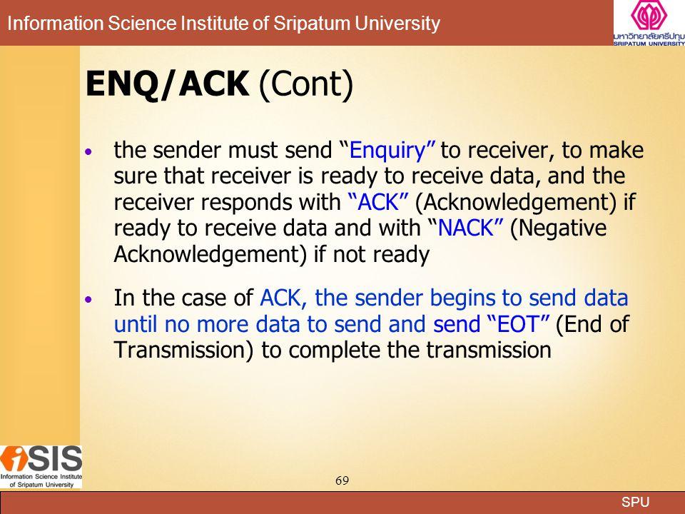 ENQ/ACK (Cont)