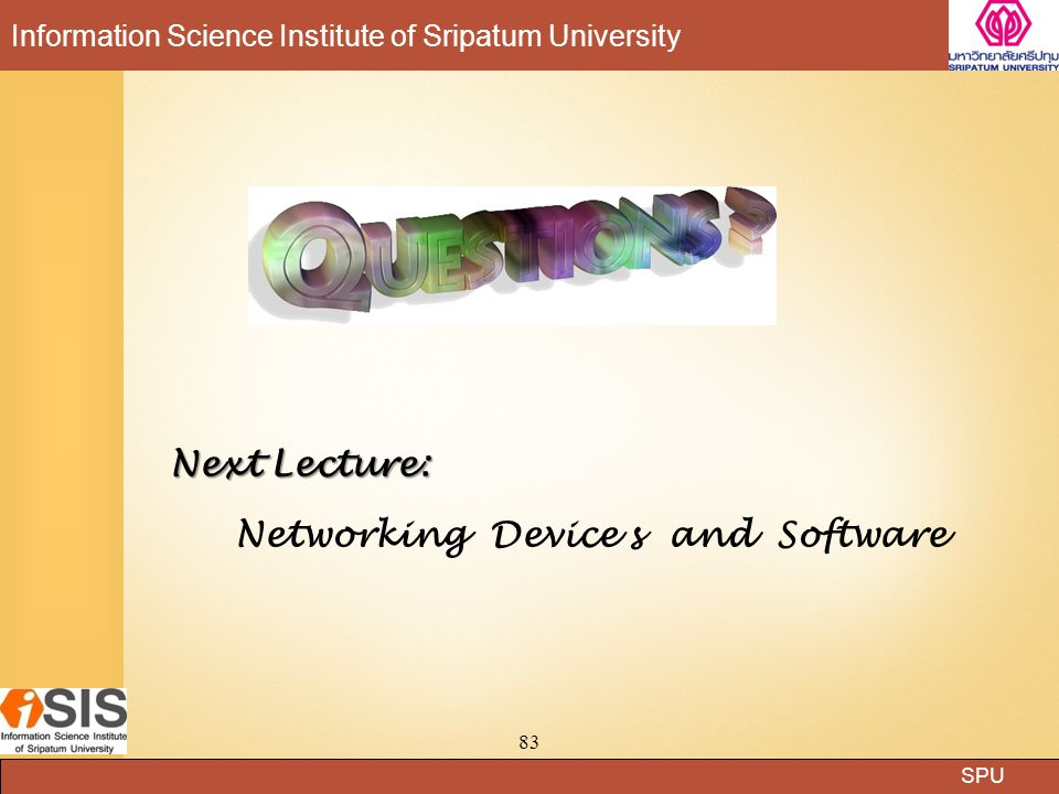Networking Device s and Software