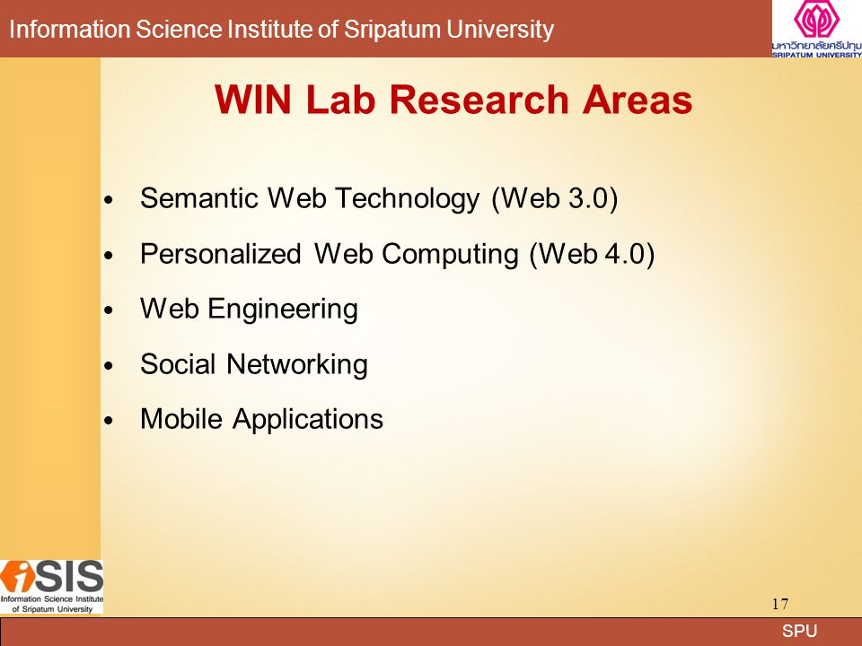 WIN Lab Research Areas Semantic Web Technology (Web 3.0)