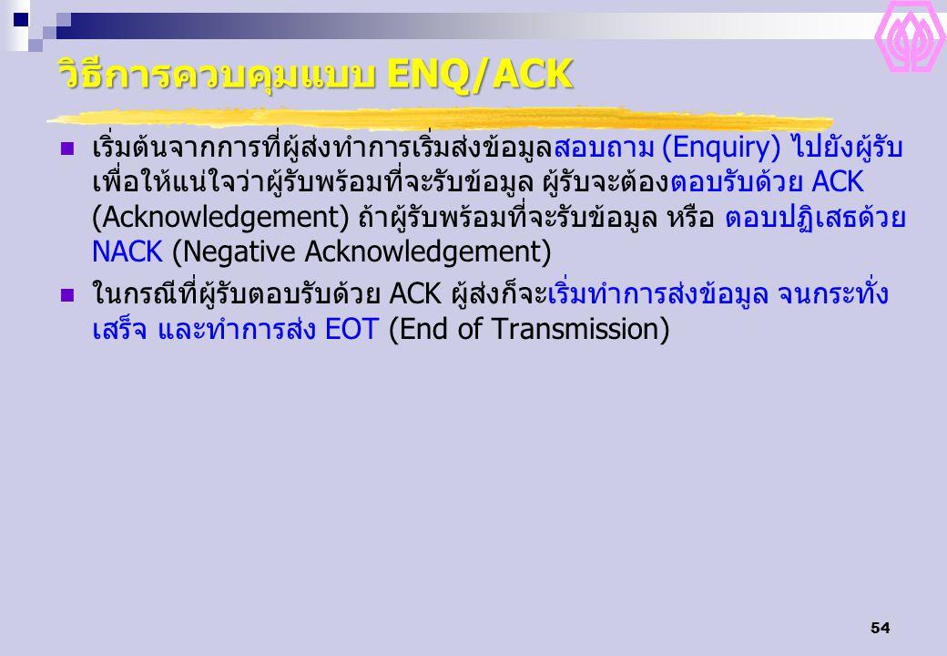วิธีการควบคุมแบบ ENQ/ACK