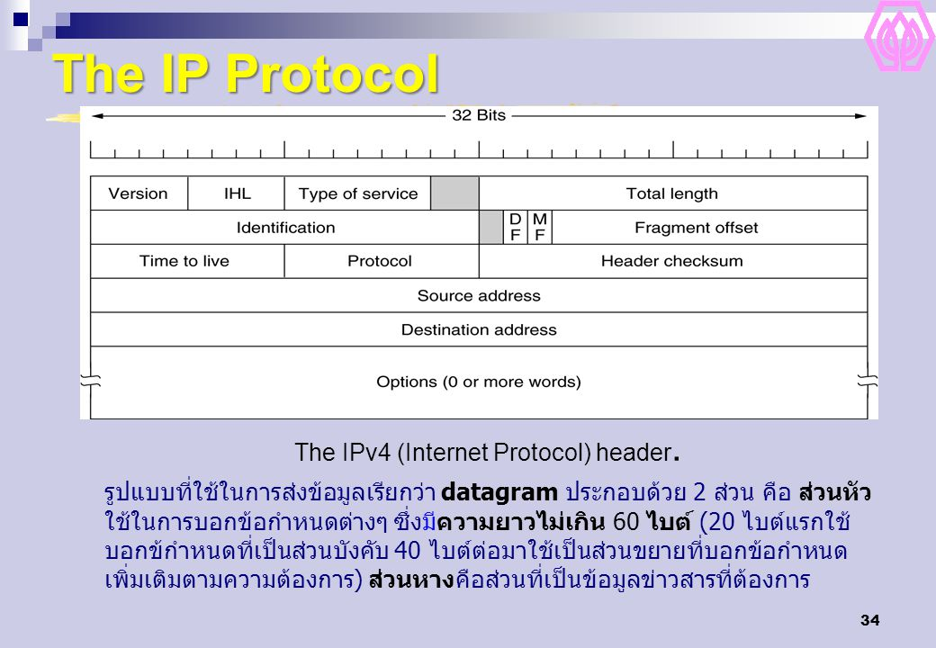 The IPv4 (Internet Protocol) header.