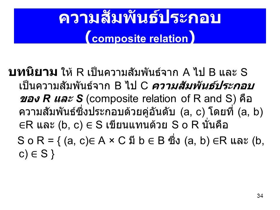 ความสัมพันธ์ประกอบ (composite relation)